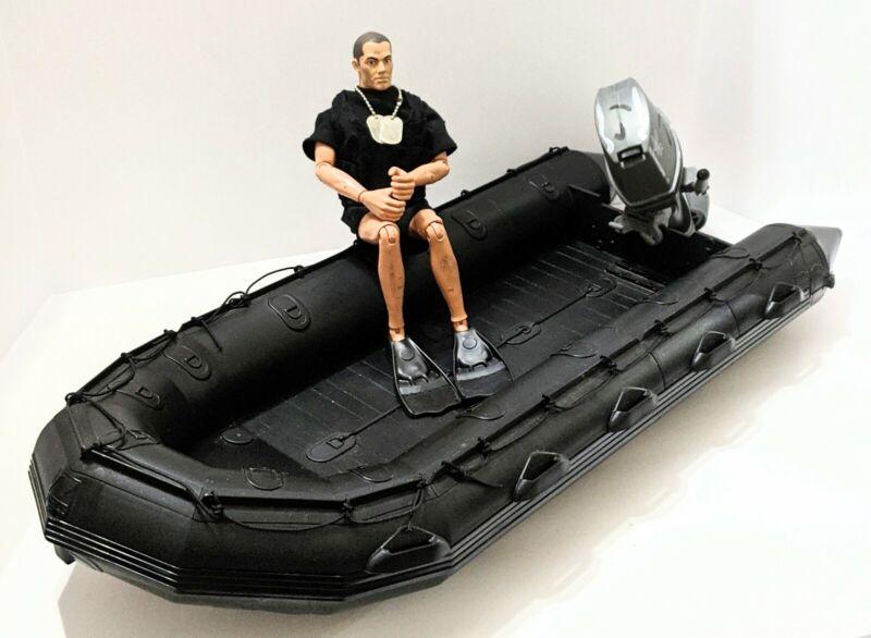 "Hasbro Gi Joe Zodiac Navy Seal Team Raft W Motor & 12"" Figure F470 1/6 Scale"