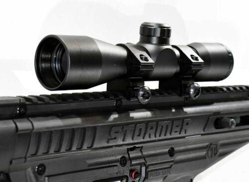 Trinity Tactical scope Sight for Tippmann Stormer paintball marker optics black.