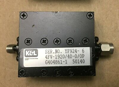 Rf Kl Microwave 4fv-192040-00p Band Pass Filter