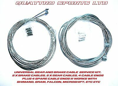 5 CYCLE INNER GEAR /& 5 CYCLE INNER BRAKE CABLES SHIMANO ETC 10 CRIMPS MTB