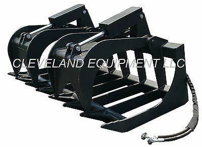 New 66 Md Root Grapple Attachment Skid-steer Loader Bucket Rake Tine Bobcat Cat