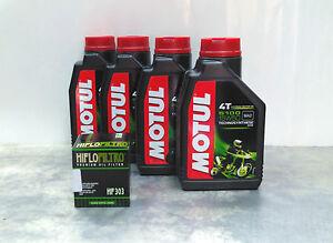 4-LT-LITRI-OLIO-moto-4t-MOTUL-5100-15W50-FILTRO-OLIO-Technosynthese-Sintetico