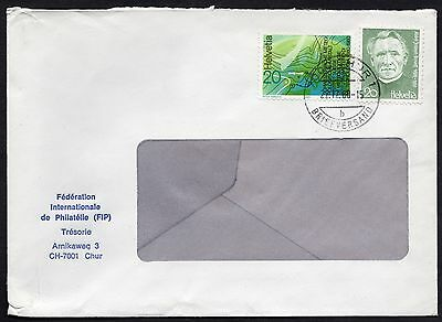 Switzerland: Stamp Collectors Society Cover with 1980 Publicity & Bovet stamps
