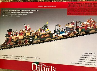The BIG Train DILLARD'S TRIMMINGS ANIMATED CHRISTMAS TRAIN SET Ready To Run LNOB