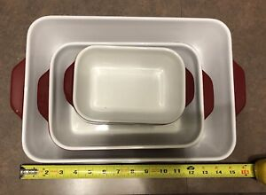 Red kitchen aid dishes