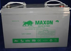 "Maxon  12V 135Ah Gel Battery 2YR Warranty ""You Won't Buy Better"" Acacia Ridge Brisbane South West Preview"