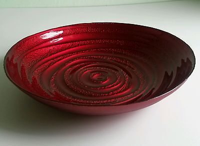 * NEW DECORATIVE RED GLASS DISH BOWL pot pourri ornament home decoration gift.