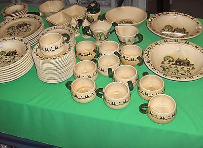 Vintage 62 P Set Metlox Poppytrail China Homestead Provincial Pottery California on Rummage