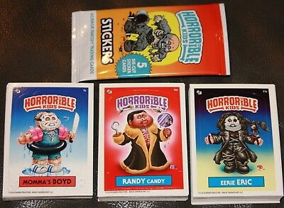 HORRIBLE KIDS LIKE GARBAGE PAIL KIDS 1 2 3 COMPLETE SETS 90 CARDS A/B HORROR