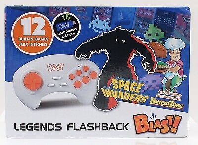 Atgames Legends Flashback Blast retro Space Invader BurgerTime 12 Built-In Games