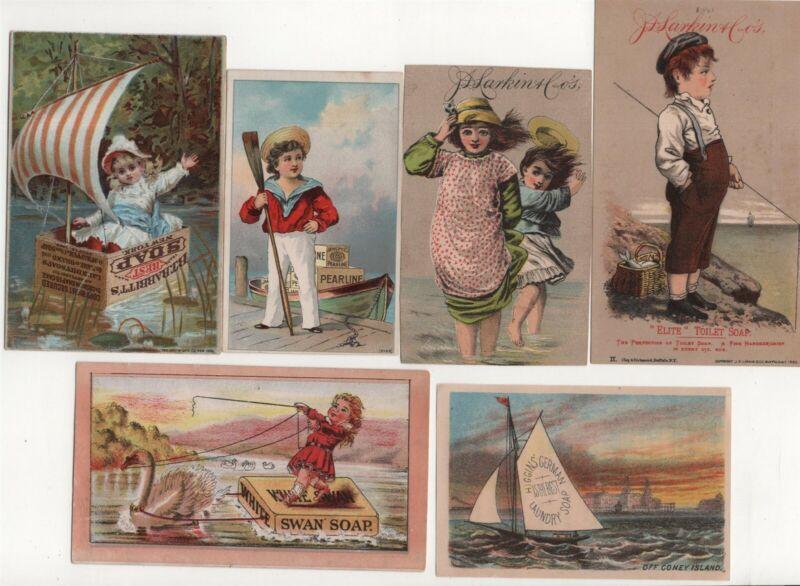 Soap Lot 13 Victorian Trade Card Antique Larkin Fairbanks Lautz Swan Ozone Home