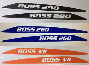 Ford BA BF  Falcon Boss XR8 - 260, 290 Custom Bonnet Bulge Decals