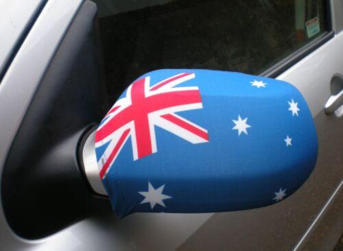 CAR WING MIRROR SOCKS FLAGS, COVERS, FLAG-UPS! - AUSTRALIA
