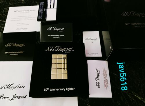 S.T. DUPONT SOLITAIRE 60TH ANNIVERSARY DIAMOND LIGHTER LINE 2 NEW,BNIB, MINT****