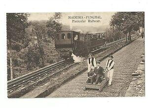 Old Postcard Madeira-Funchal Funicular Railway Portugal