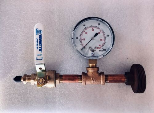Gas Line Pressure Test Gauge, At Meter, Oz