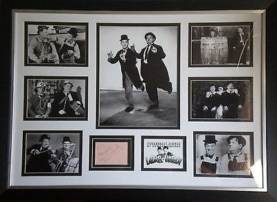 Laurel & Hardy Signed Photo Display Framed Stan Laurel & Oliver Hardy AFTAL RARE