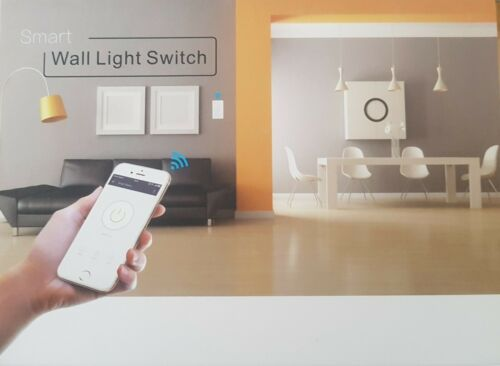 Elegant Smart Wi-Fi Wall Light Touch Switch Connects with Alexa & Google Home