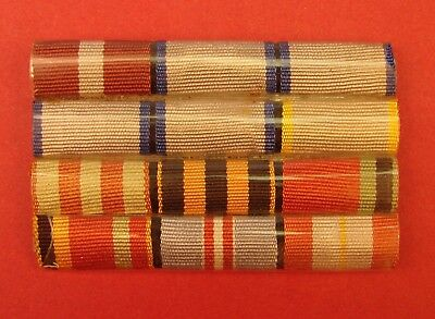 Soviet 12Pc Ww2 Ribbon Bar Group Order Red Star Four Valor Medals Defense Moscow