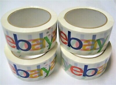 4 Rolls Ebay Official Branded Packaging Tape 2x75 Yards Bopp Shipping Supplies