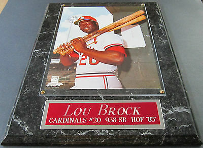 LOU BROCK ST. LOUIS CARDINALS FRAMED 8 X 10 PHOTO-MAN CAVE ART-12X15 WALL PLAQUE