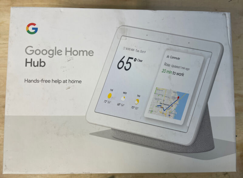 Google Home Hub Smart Display Model H1A White/Chalk - Preowned