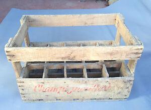 ancien casier champigneulles 15 bouteilles vin bistrot en bois french antique ebay. Black Bedroom Furniture Sets. Home Design Ideas