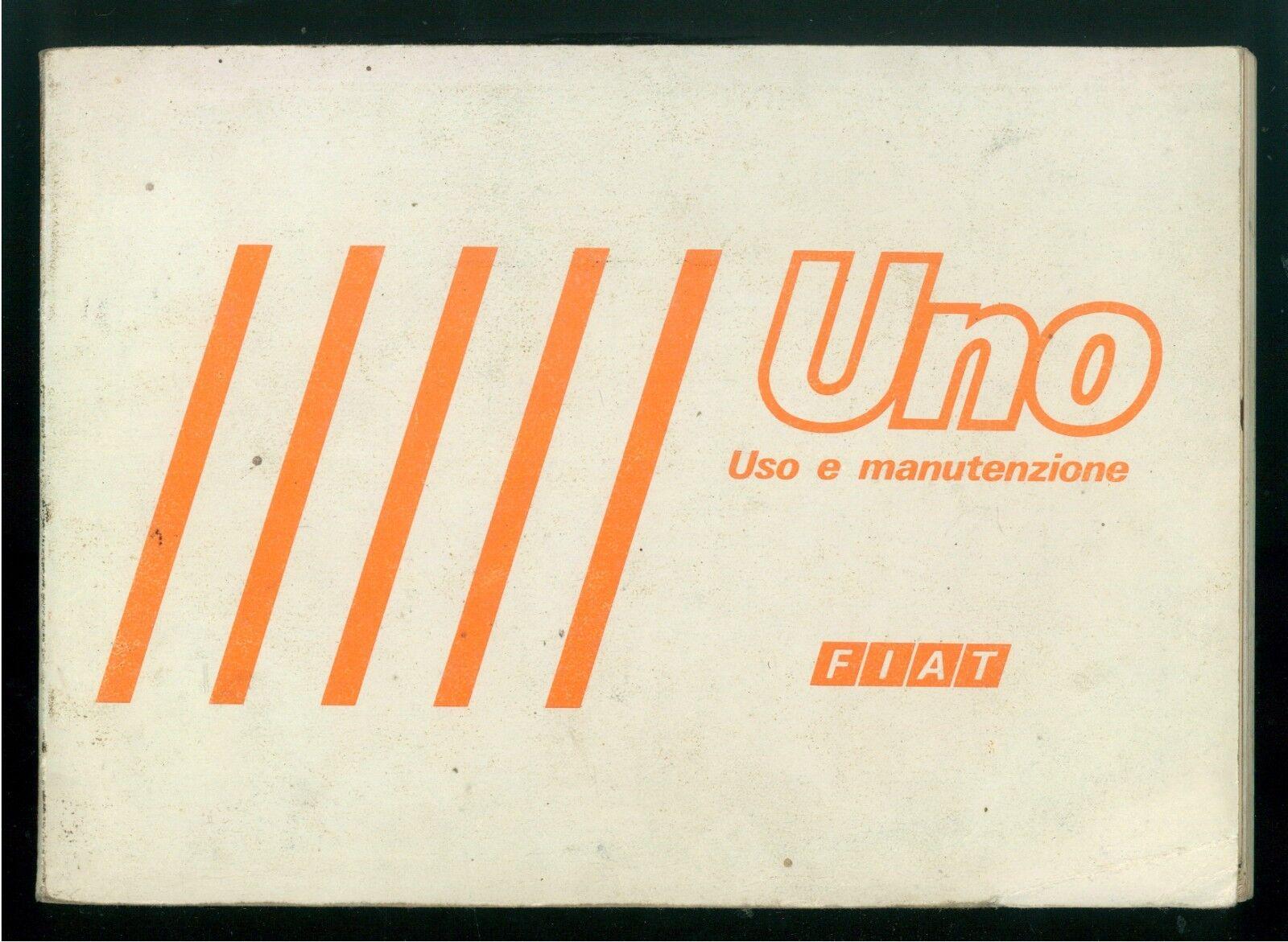 FIAT UNO LIBRETTO USO E MANUTENZIONE 1984 AUTOMOBILI MOTORI MACCHINE