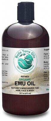 Emu Oil 100% Pure Bella Terra Oils 16 Oz Fully Refined Organ