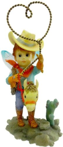 Enesco My Little Kitchen Fairies 4021004 Happy Fathers Day Cowboy New in Box B