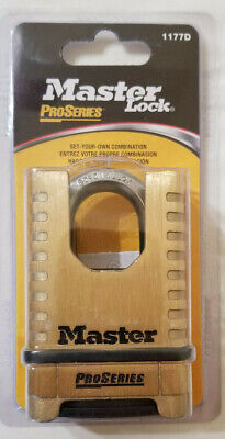 Master Lock 1177d 2-14 Brass Proseries Shrouded Resettable Combination Padlock