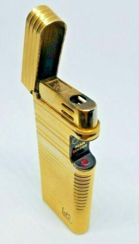 Vintage Colibri Beam Sensor Gold Tone Lighter Original Blue Box & Directions