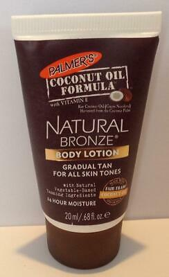 Palmers Coconut Oil Formula Natural Bronze Body Tanning Lotion Travel Size 20ml - Natural Bronze Body Lotion