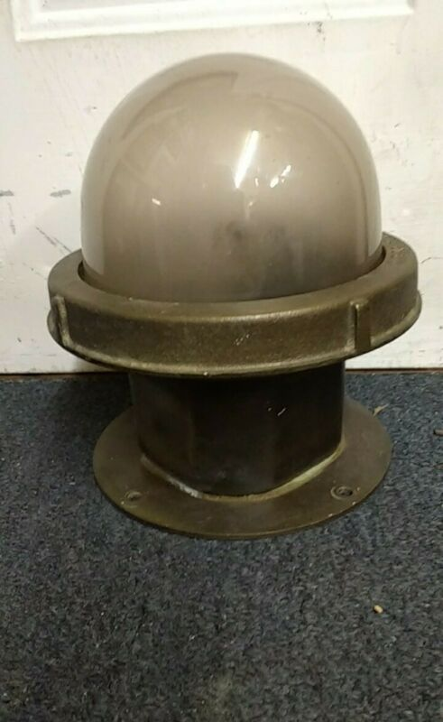 Vintage Marine, Bronze And Glass Dome Ship Light! 12 Available! Nautical Antique