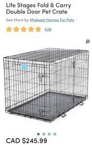 X-Large Life Stages dog crate $160