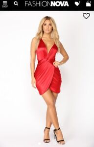 FashionNova Women Dress Red & White