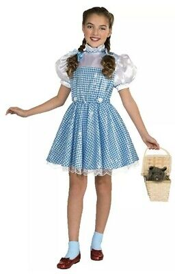 Wizard Costume For Girls (New Wizard Of Oz Dorothy Costume Girls Small Medium Sequin Blue Gingham)