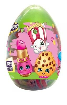 Shopkins Easter Basket Stuffers Giant Easter Egg Jelly Beans and Stickers FUN