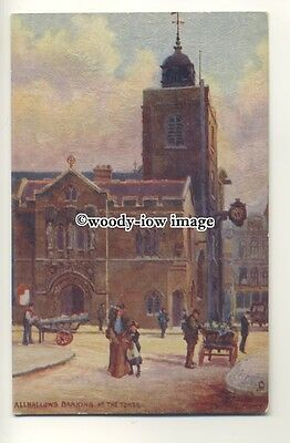 ar0510 - All Hallows Church, Barking- Artist - Charles Flower- Postcard - Tuck's Charles Church Artist
