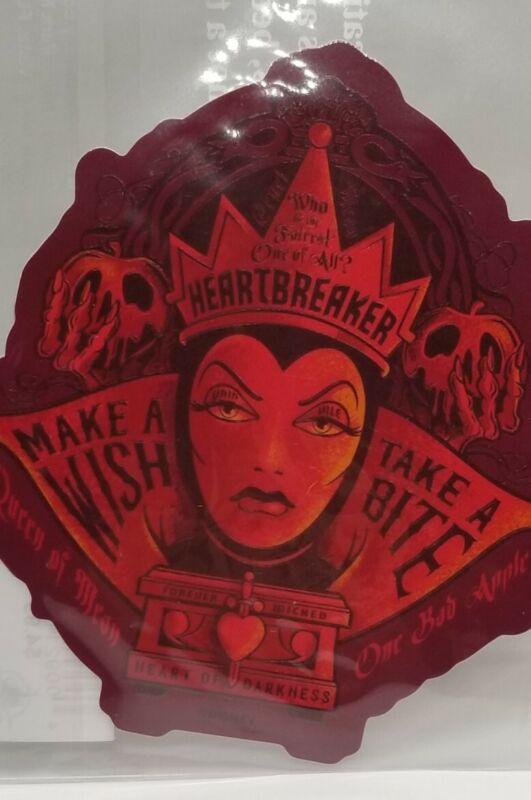 Disney Parks Evil Queen Tech Sticker - Heartbreaker Make A Wish Take A Bite NEW