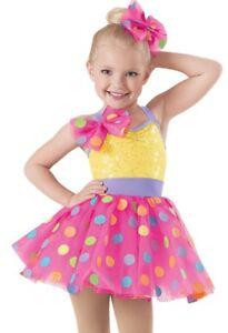 Dance costume jazz tap ballet Weissman XSC pink