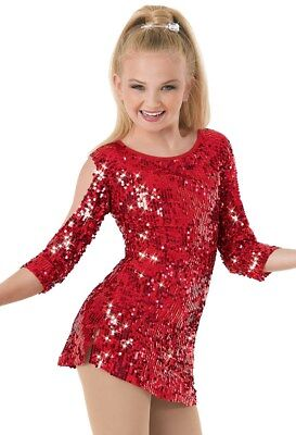 NEW Women Costume Weissman 8962 MA Red Sequin Dress