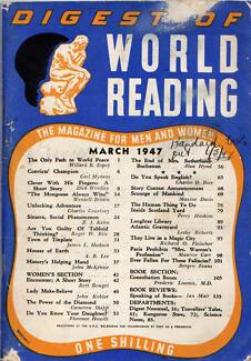 Sinatra Social Phenomenon March 1947 Oz Digest Of World ReadingGR