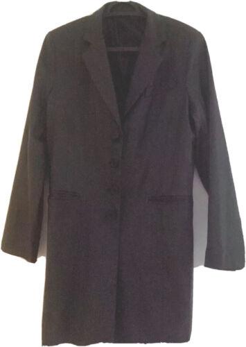 Trench coat noir femme taille 40 effet cuir  zara valeur 69 euros