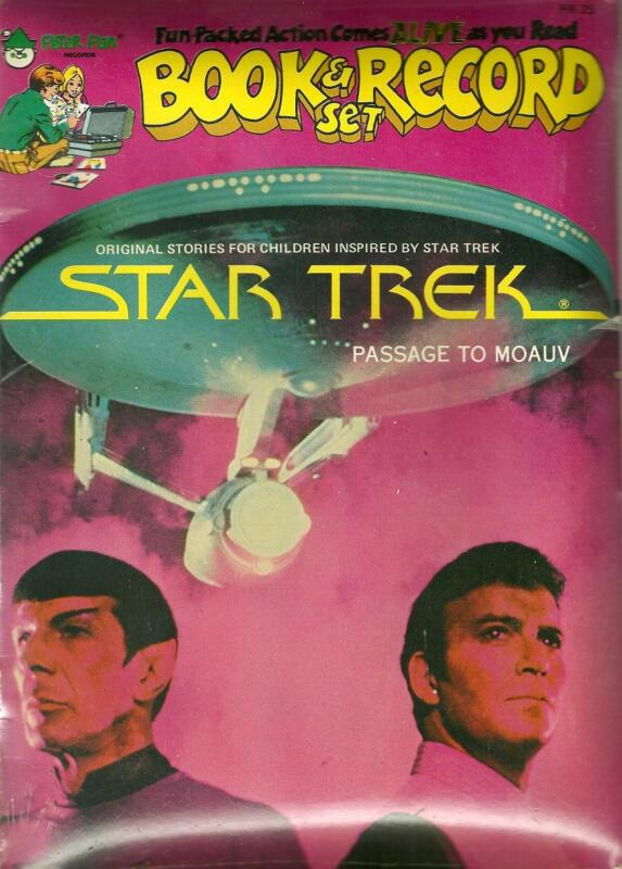 """Vintage (1979) Star Trek Book and 45 RPM Record  story is """"Passage to Moauv"""""""