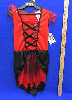 Cute Devil Halloween Costumes (Cute Classic Devil Halloween Costume Red Black Dress Totally Ghoul Girls)