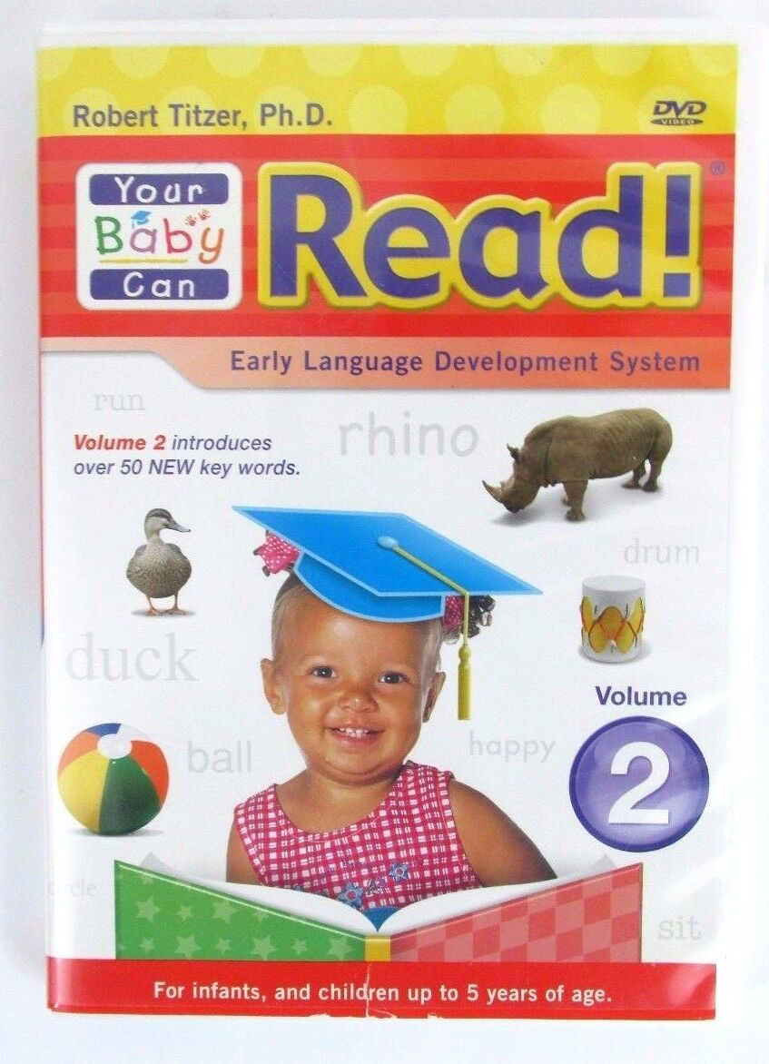 Your Baby Can Read Volume 2 DVD Robert Titzer Early Language Developement 2008 - $6.89