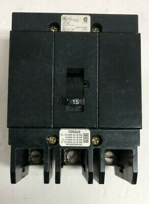 Cutler Hammer Ghb3015 3p 15 Amp 480v Type Ghb Bolt On Circuit Breaker-