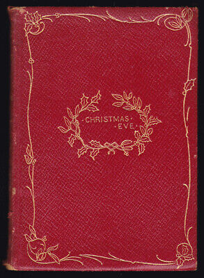 Antique Book Robert Browning Christmas Eve & Easter Day Verse Poem Leather Gilt ()