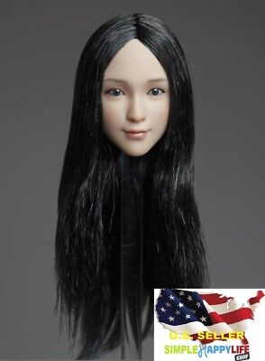 1//6 Female Head Sculpt Long Curly Hair For Phicen PALE Figure Hot Toys ❶USA❶